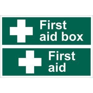 DRAPER 'First Aid Box' Safety Sign